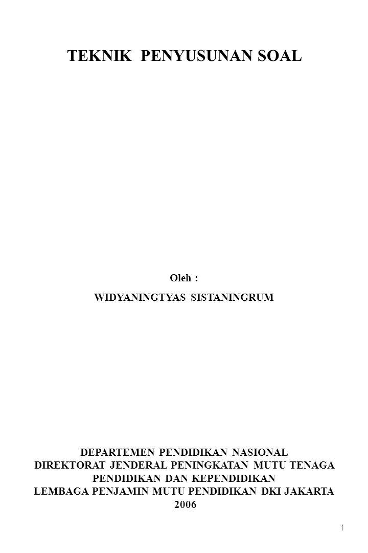 12 PENGEMBANGAN INSTRUMEN tujuan tes (1) analisis kurikulum (2) kisi-kisi tes (3) spesifikasi soal (4) penulisan soal (5) revisi/telaah (6) perakitan soal (7) reproduksi tes (8) uji coba soal (9) analisis soal (10) seleksi dan perbaikan soal (11) perakitan soal (12) VALIDITAS DAN RELIABILITAS Validitas mengukur apa yang sebenarnya diukur (1) Validitas isi (2) Validitas konstruk (3) Validitas empirik (internal dan eksternal) Realibilitas hasil pengukuran dapat dipercaya (konsisten)