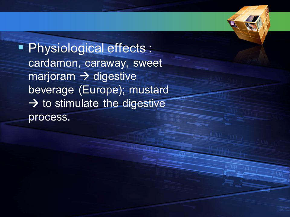  Aromacology : addition flavoring to beverage and chewing gum  stimulate or relax the consumer.