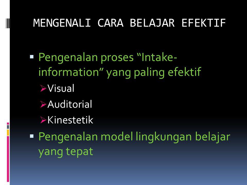 MACAM GAYA BELAJAR Visual Lebih banyak menggunakan indra mata sebagai alat untuk menyerap informasi.