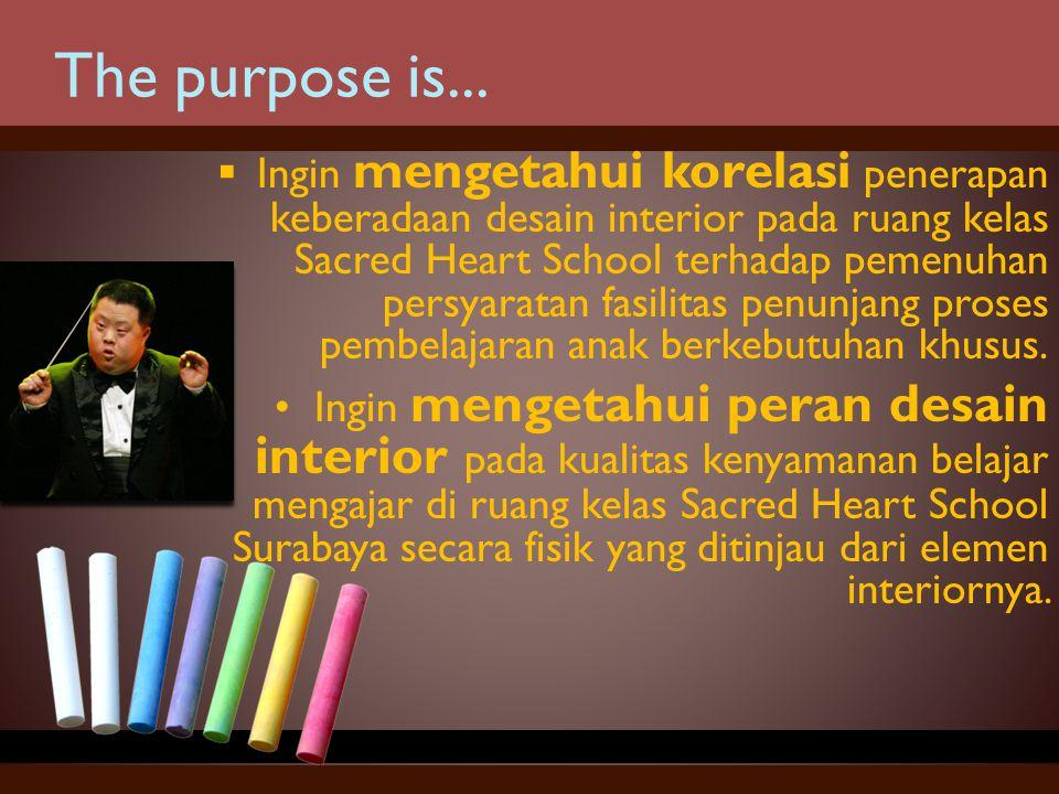 Ditunjang dari tempat, fasilitas sarana serta pengajar yang berpengalaman, pembelajaran secara terpadu dan berkesinambungan Sacred Heart School dianggap cukup sesuai bagi anak berkebutuhan khusus.