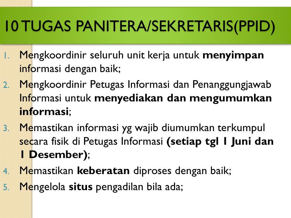 Atasan Pejabat Pengelola Informasi dan Dokumentasi (Atasan PPID) (Ketua/Wakil Ketua Pengadilan) Atasan Pejabat Pengelola Informasi dan Dokumentasi (At