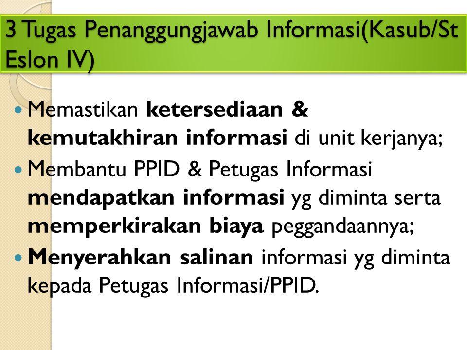 8 Tugas Petugas Informasi (Panmud Hukum) 1. Menerima permohonan informasi dan keberatan; 2. Membantu pengisian formulir permohonan; 3. Mengisi dan mem