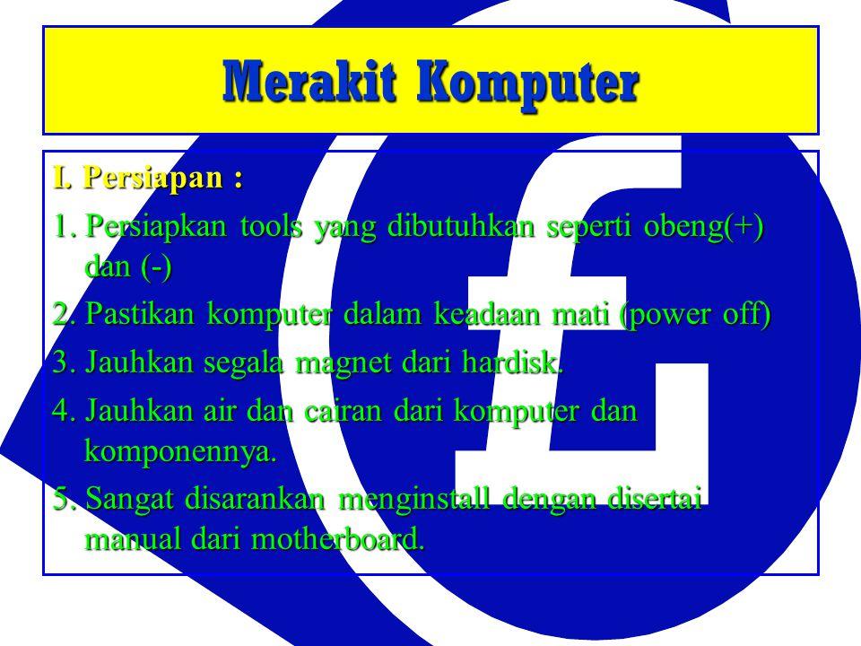 II.Menginstall Processor : (Jenis Socket) : (Jenis Socket) : 1.