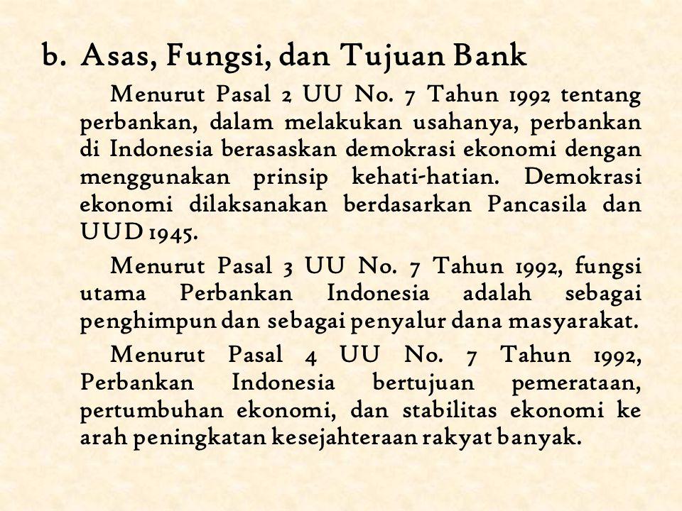 B.Lembaga Keuangan 1.Bank a.Pengertian Bank Kata bank berasal dari bahasa Italia, yaitu banca yang berarti meja yang digunakan sebagai tempat penukaran uang.