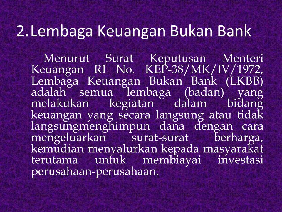 C.Jenis-jenis Bank 1.Bank Sentral 2.Bank Umum 3.Bank Perkreditan Rakyat (BPR)
