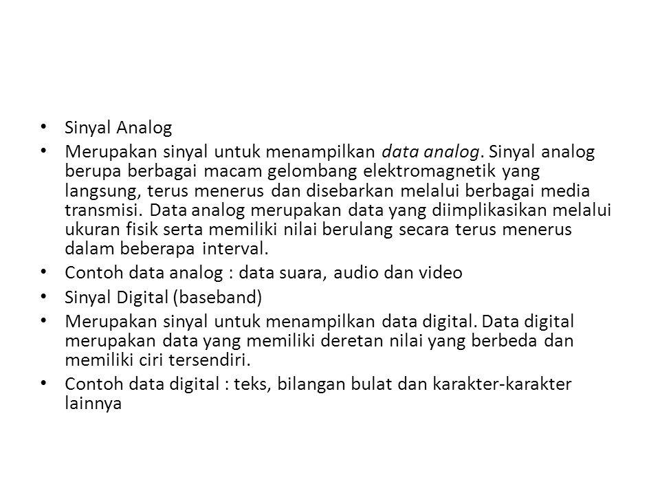 Sinyal Analog Merupakan sinyal untuk menampilkan data analog.