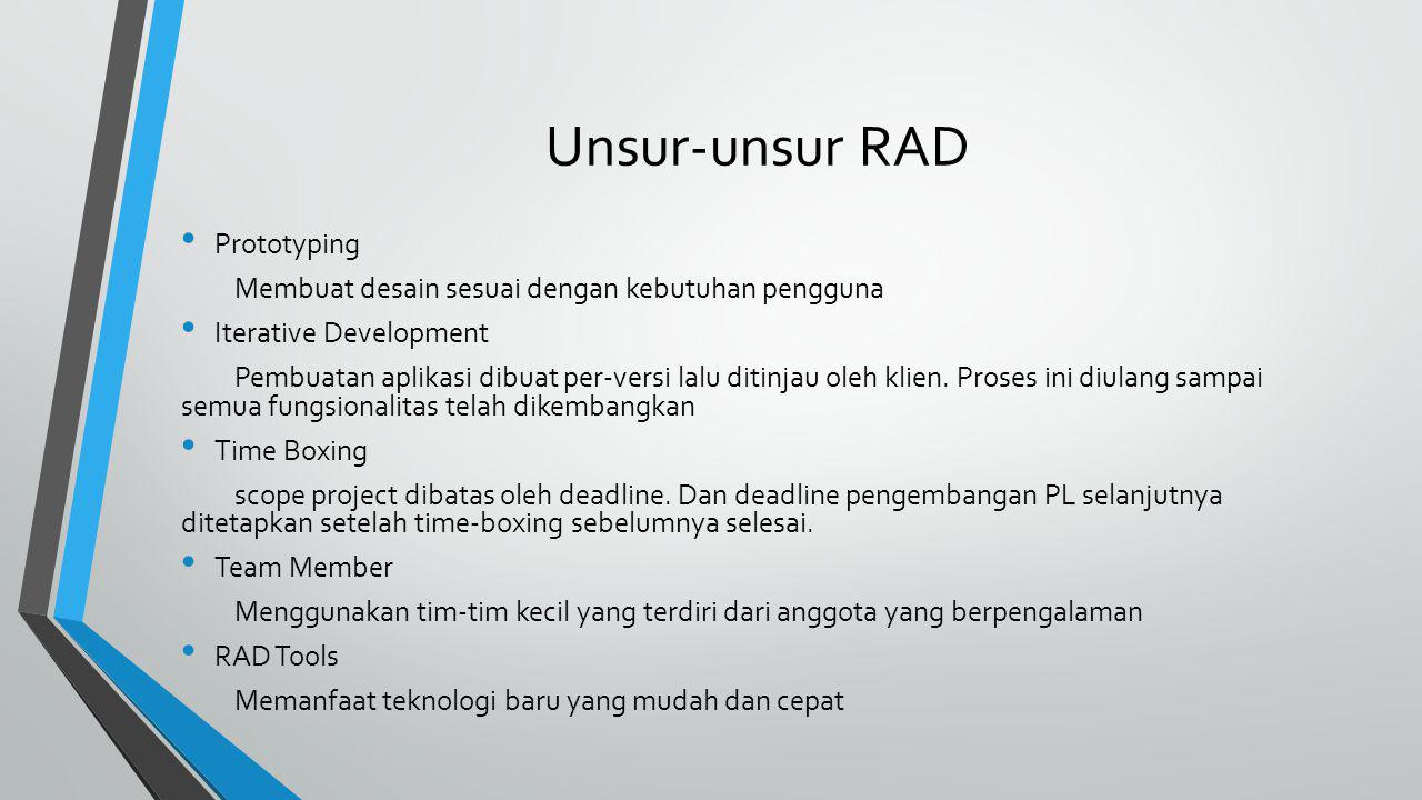 Model RAD Requirements Planning User Design Construction Cutover