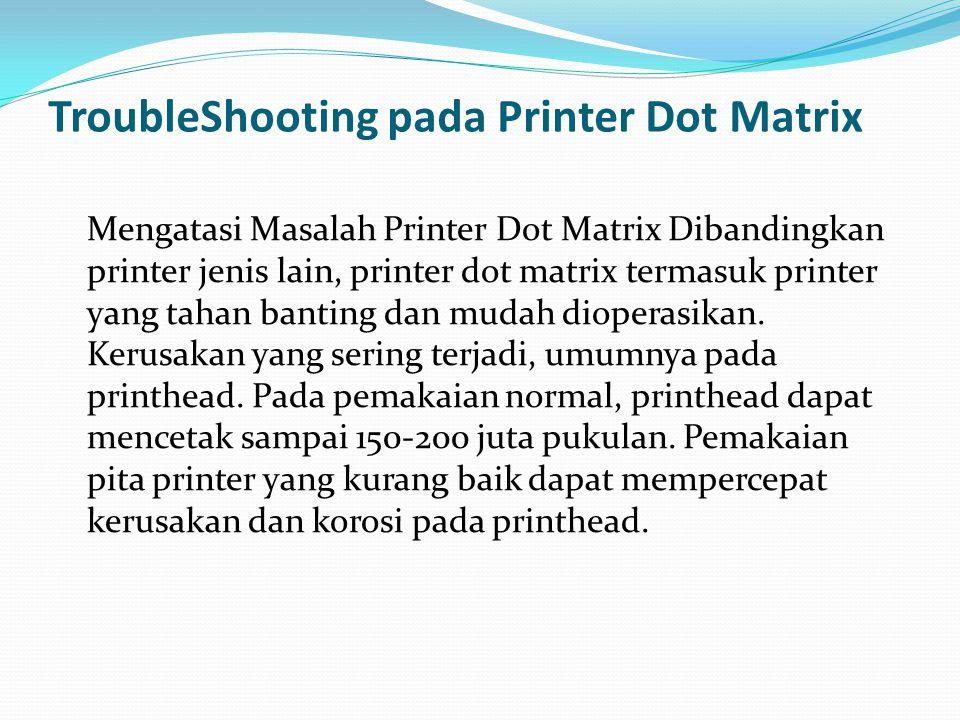 sebuah pc terhubung dengan sebuah printer dot matrix, melalui port lpt1.