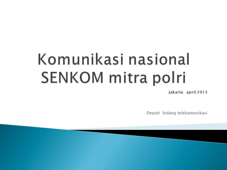 Jakarta april 2013 Deputi bidang telekomunikasi