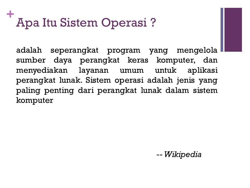 + Apa Itu Sistem Operasi .