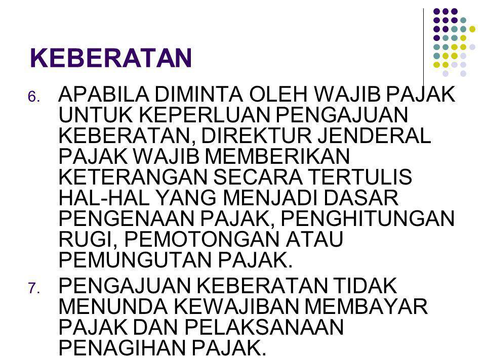 BANDING 1.BANDING DIAJUKAN DENGAN SURAT BANDING DALAM BAHASA INDONESIA KEPADA PENGADILAN PAJAK.