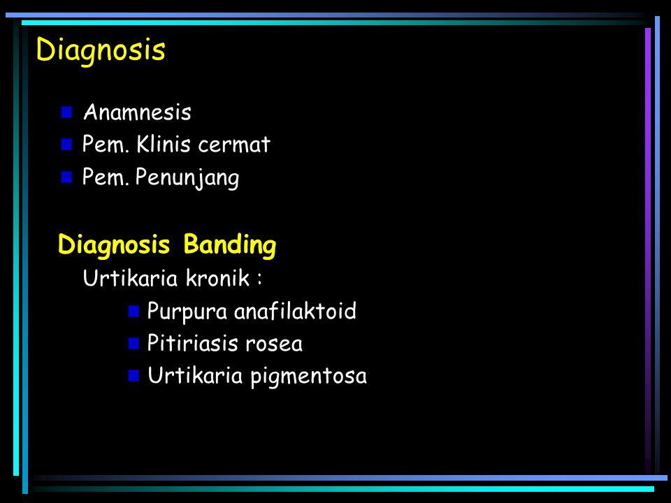 Diagnosis Anamnesis Pem.Klinis cermat Pem.