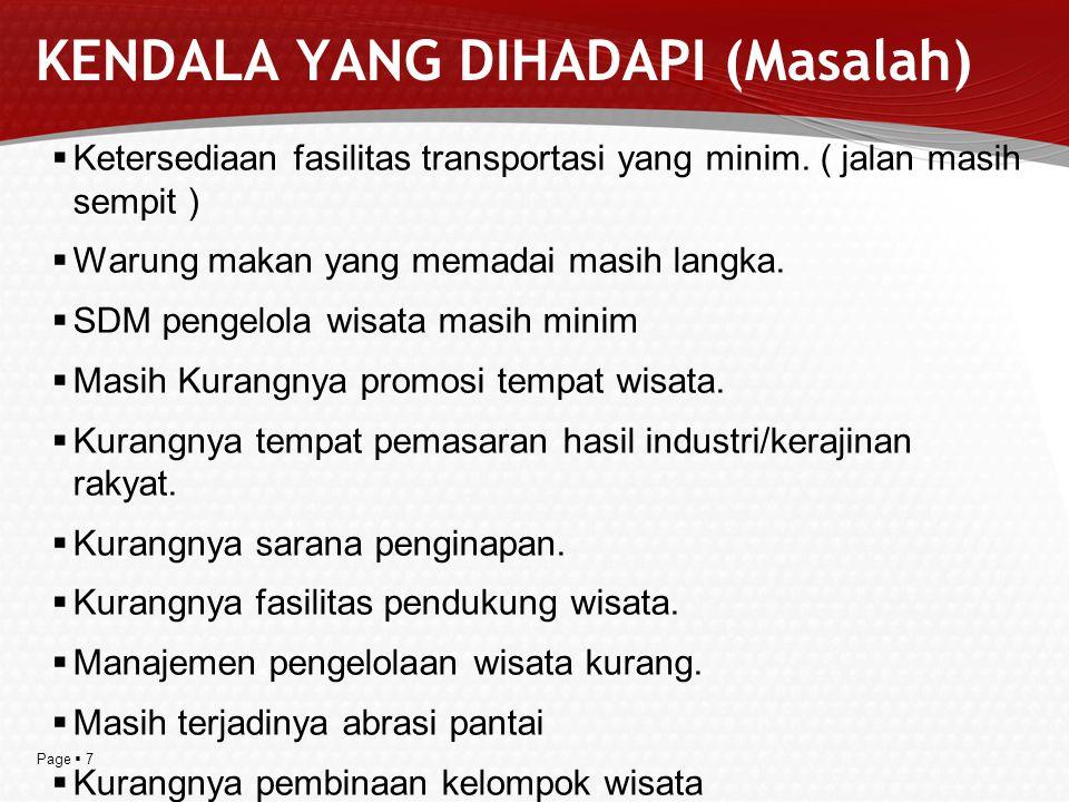 Page  8 RANCANGAN USULAN PROGRAM PENGEMBANGAN KAWASAN RKTL Kawasan Ekowisata Rajabasa PKPBM Kab.