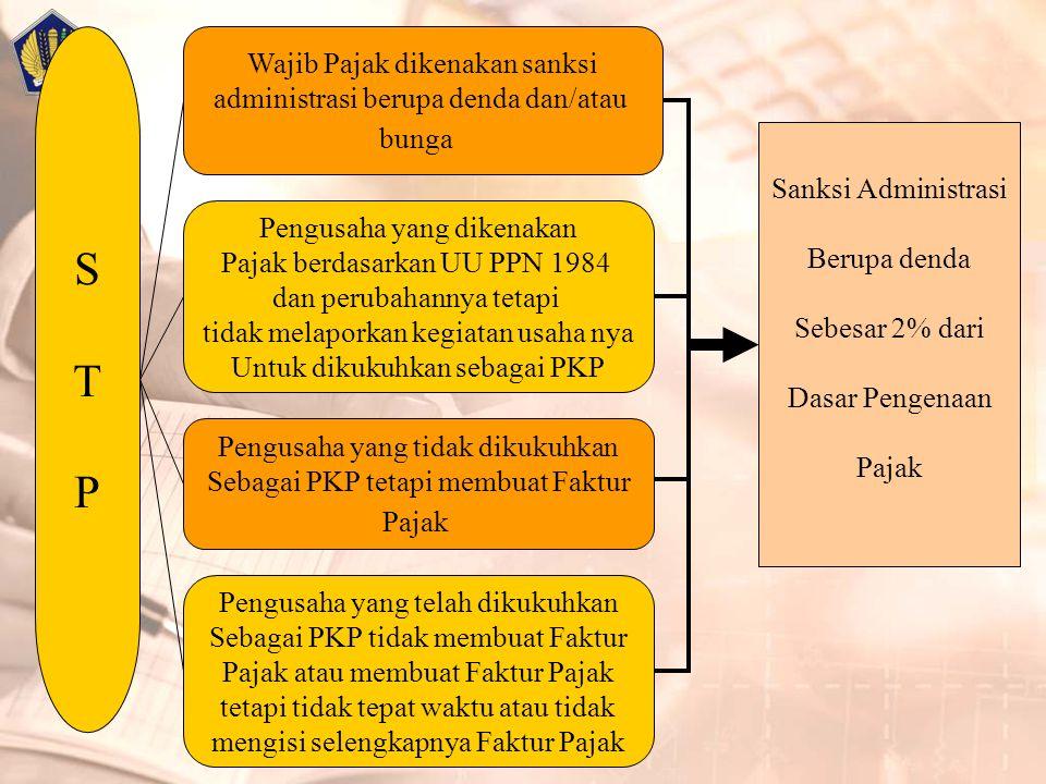 Pengusaha yang dikenakan Pajak berdasarkan UU PPN 1984 dan perubahannya tetapi tidak melaporkan kegiatan usaha nya Untuk dikukuhkan sebagai PKP Wajib