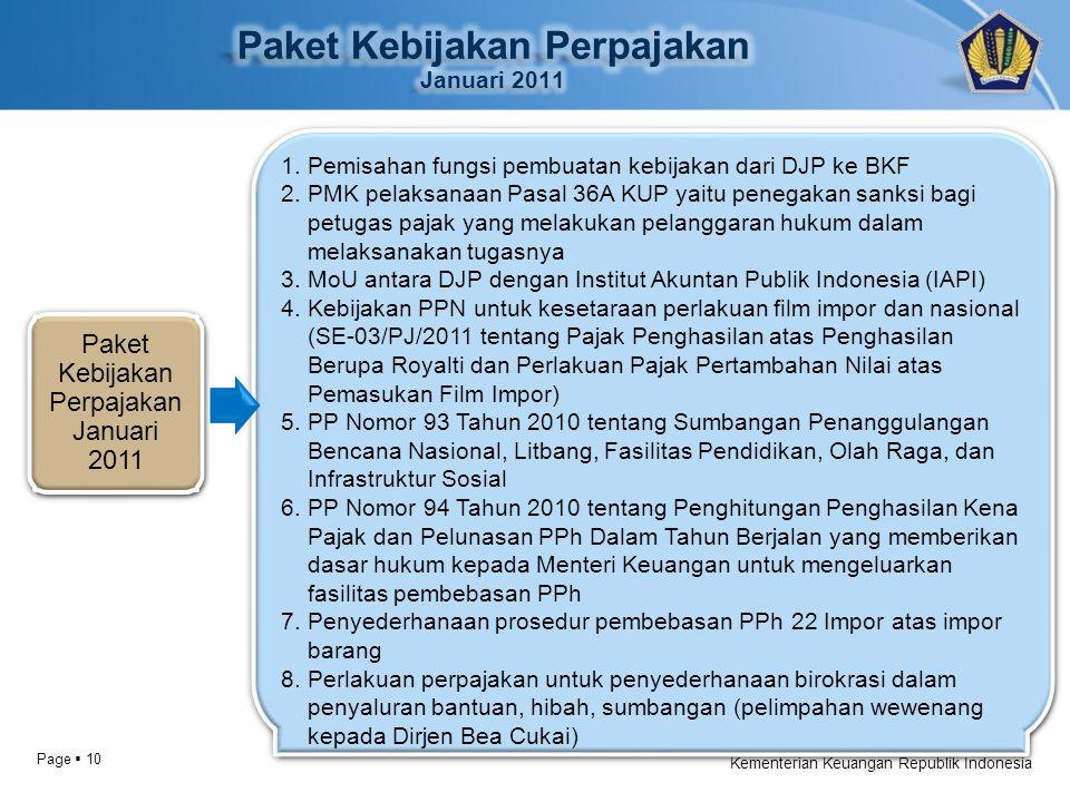Page  10 Kementerian Keuangan Republik Indonesia