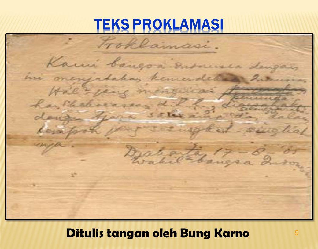 9 Ditulis tangan oleh Bung Karno
