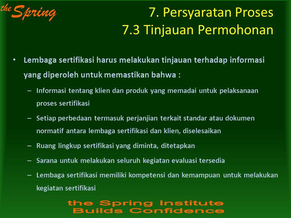 the Spring Lembaga sertifikasi harus melakukan tinjauan terhadap informasi yang diperoleh untuk memastikan bahwa : – Informasi tentang klien dan produ