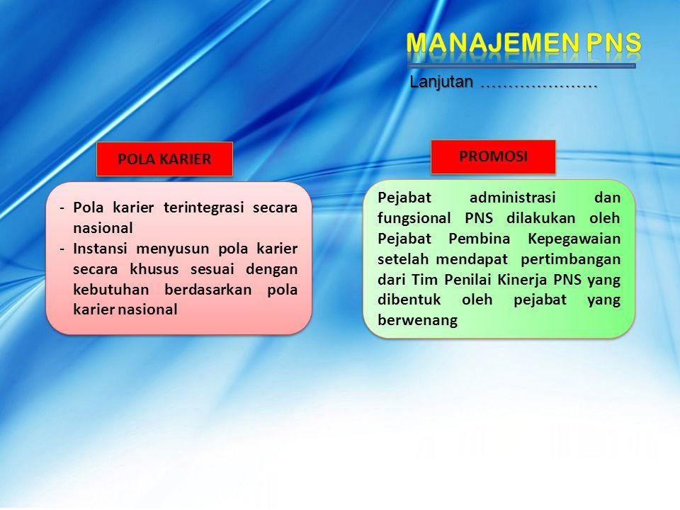POLA KARIER - Pola karier terintegrasi secara nasional - Instansi menyusun pola karier secara khusus sesuai dengan kebutuhan berdasarkan pola karier n
