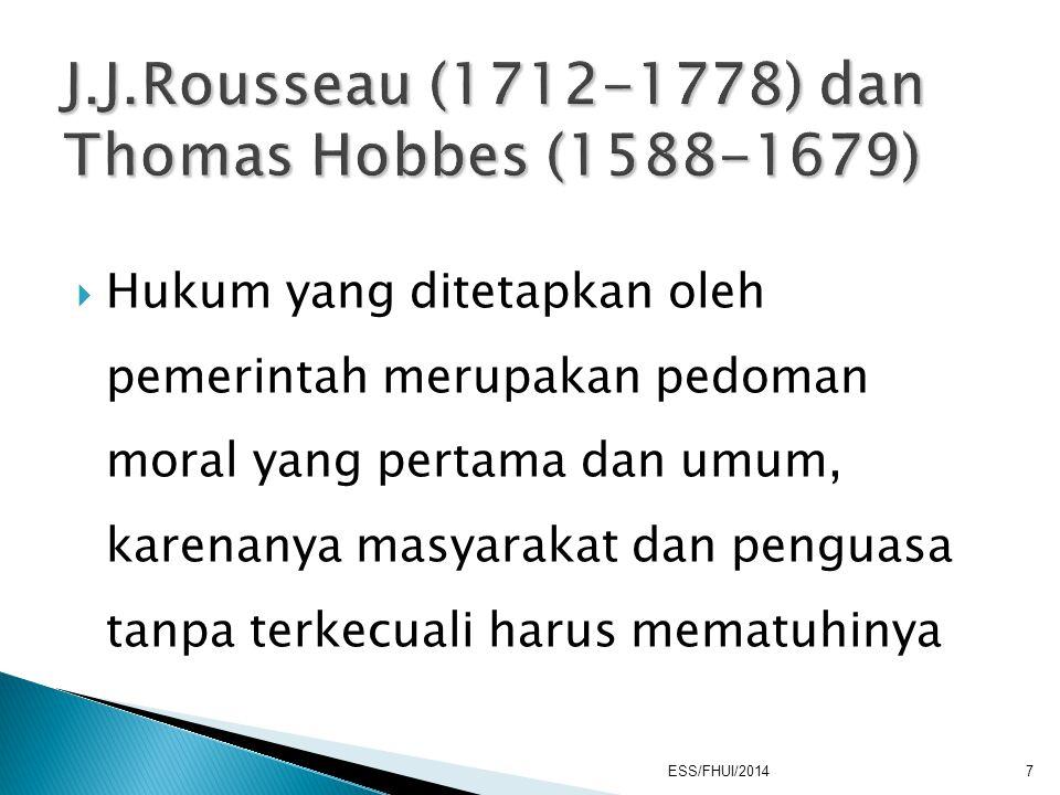 1. Daerah / wilayah 2. Rakyat 3. Pemerintahan 4. Kedaulatan ESS/FHUI/2014 8