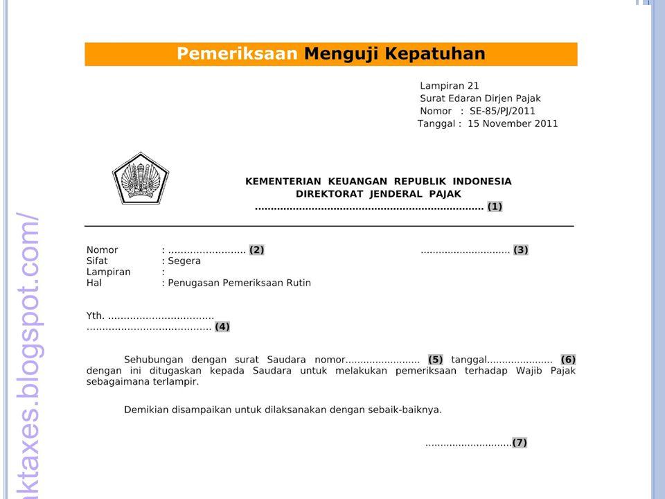 Surat perintah Pemeriksaan
