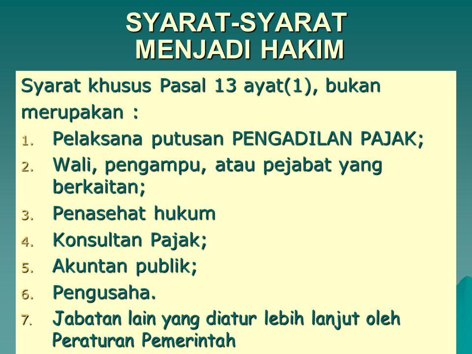 SYARAT-SYARAT MENJADI HAKIM a.Warga Negara Indonesia Berumur Sekurang-kurangnya 45 Tahun.