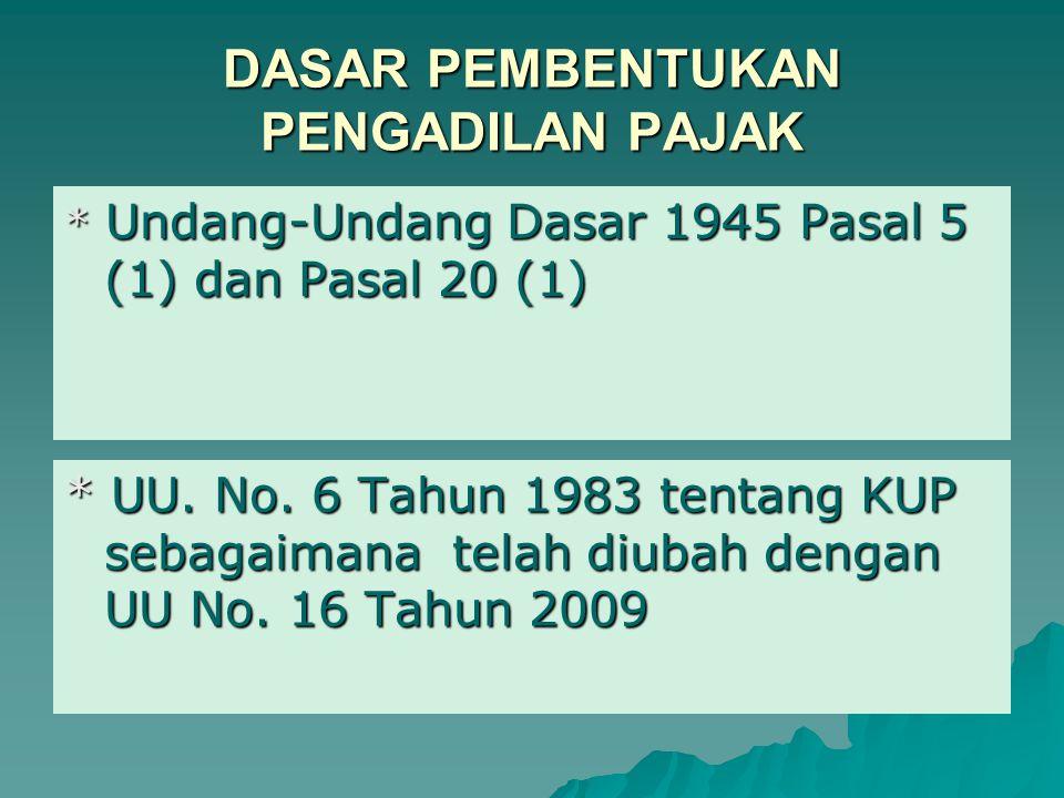 PENGANTAR PERPAJAKAN topik bahasan PENGADILAN PAJAK Dr. Sumiharti, Ak, M.Si