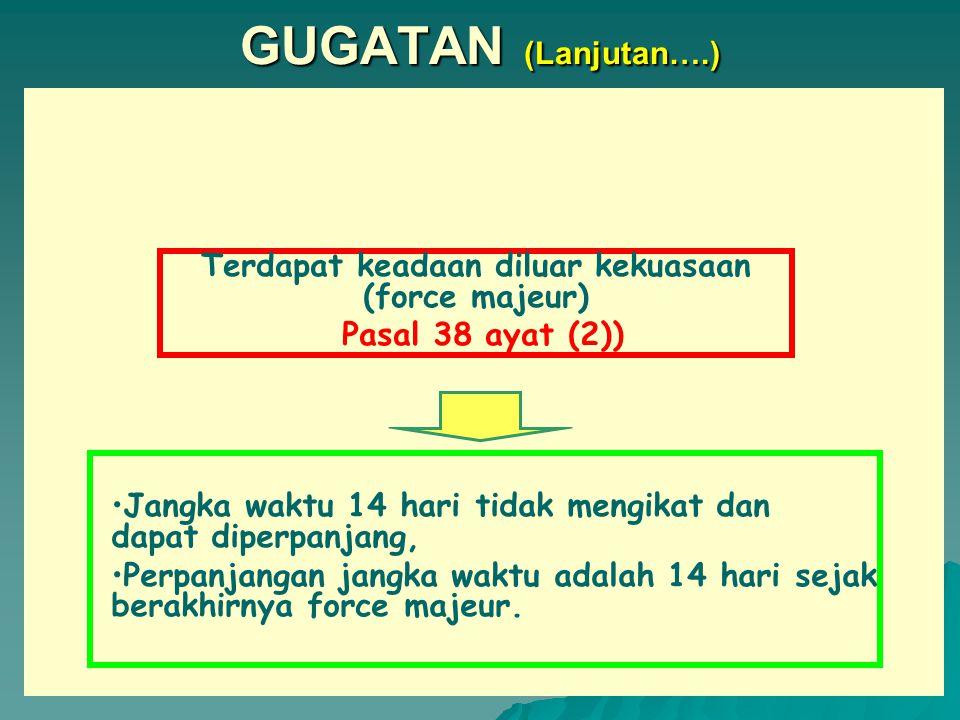 GUGATAN SYARAT-SYARAT PENGAJUAN GUGATAN 1.