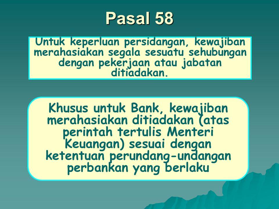 Pasal 56 Ayat (1) Tidak boleh didengar keterangannya sebagai saksi : a.Keluarga sedarah/semenda menurut garis keturunan lurus ke atas atau ke bawah sampai dengan derajat ketiga.