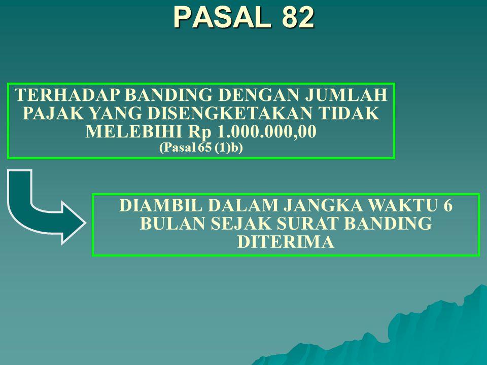 TERHADAP BANDING YANG DICABUT (Pasal 65 (1)d) DAN GUGATAN YANG DICABUT (Pasal 65(1)e).