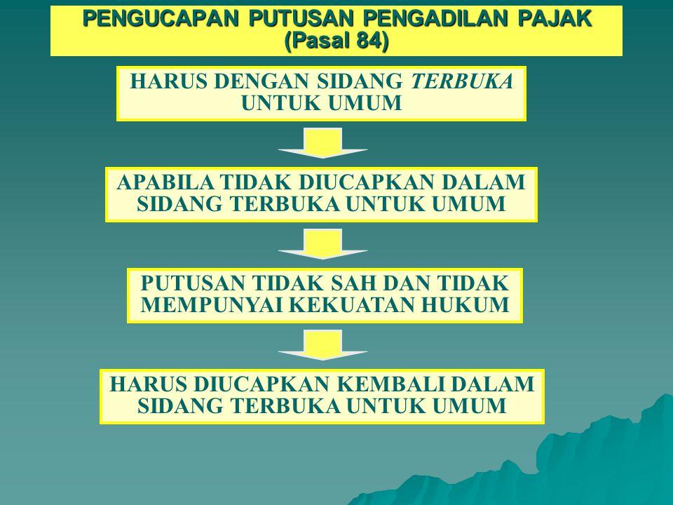PASAL 83 APABILA SETELAH LEWAT JANGKA WAKTU PASAL 80 (2), PASAL 81, PASAL 82, BELUM DIAMBIL PUTUSAN PUTUSAN YANG AKAN DIAMBIL ADALAH: A.MENGABULKAN SELURUH PERMOHONAN B.
