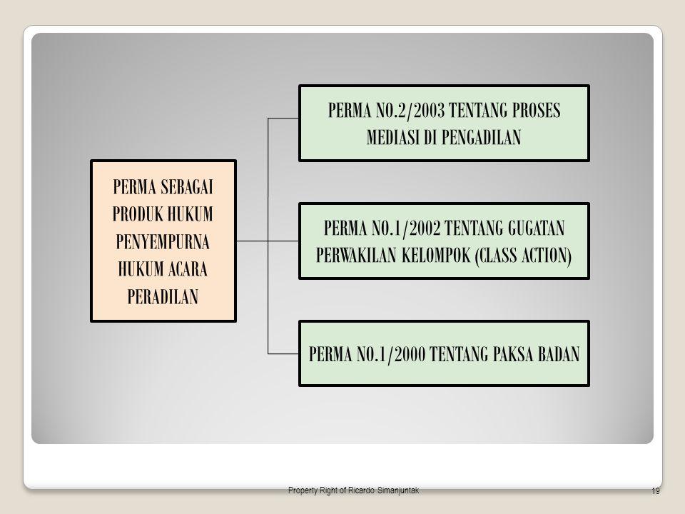 PERMA SEBAGAI PRODUK HUKUM PENYEMPURNA HUKUM ACARA PERADILAN PERMA NO.2/2003 TENTANG PROSES MEDIASI DI PENGADILAN PERMA NO.1/2002 TENTANG GUGATAN PERW