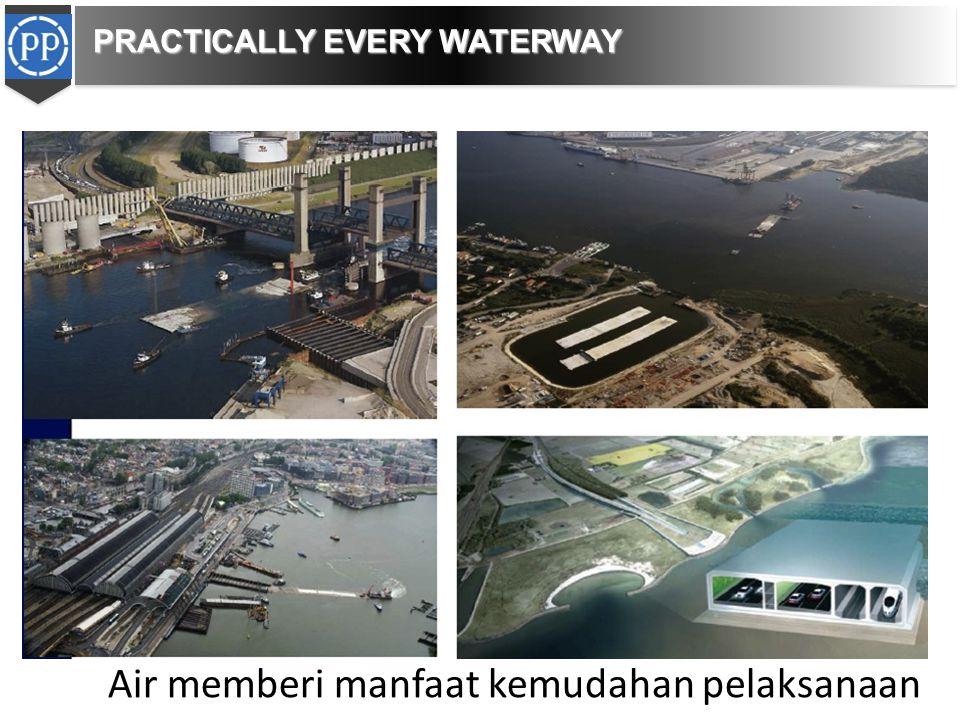 Air memberi manfaat kemudahan pelaksanaan PRACTICALLY EVERY WATERWAY