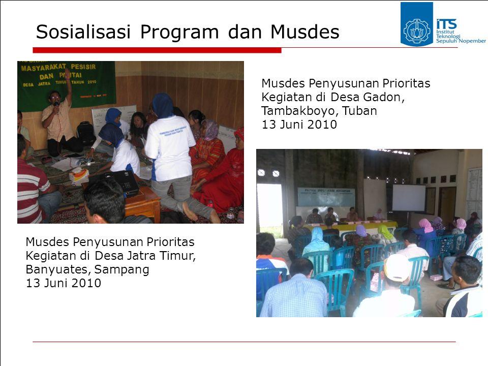 Sosialisasi Program dan Musdes Musdes Penyusunan Prioritas Kegiatan di Desa Jatra Timur, Banyuates, Sampang 13 Juni 2010 Musdes Penyusunan Prioritas K