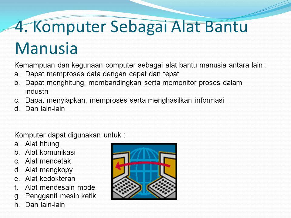 3.4 Pengertian Komputer Menurut Data Yang Diolah a.Komputer Analog Merupakan suatu jenis komputer yang bisa digunakan untuk mengolah data kualitatif.