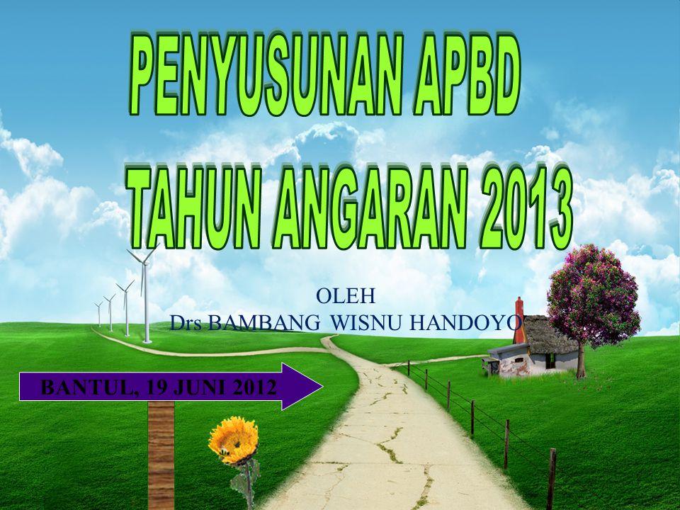 BANTUL, 19 JUNI 2012 OLEH Drs BAMBANG WISNU HANDOYO