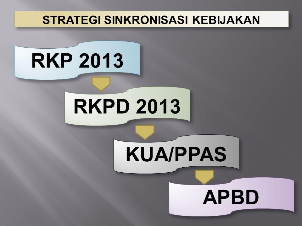 RKP 2013 RKPD 2013 KUA/PPAS APBD