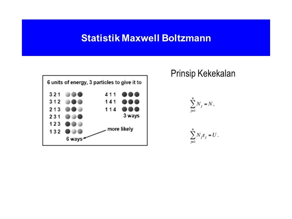 Statistik Maxwell Boltzmann Prinsip Kekekalan