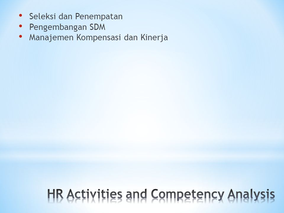 Job Analysis Responsibilities