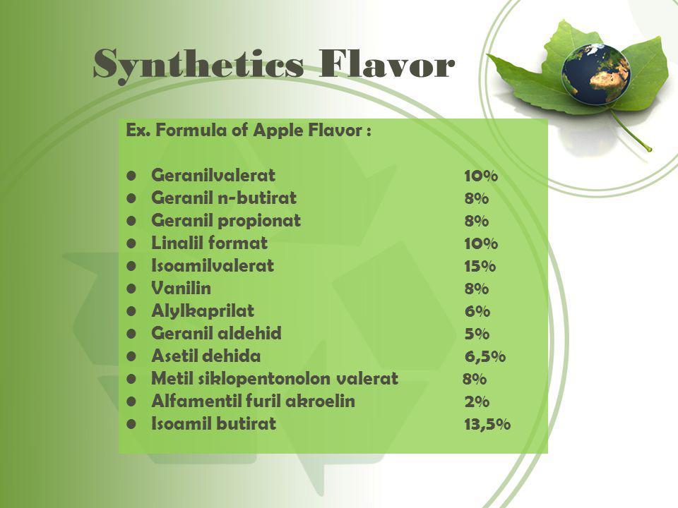 Synthetics Flavor Ex.