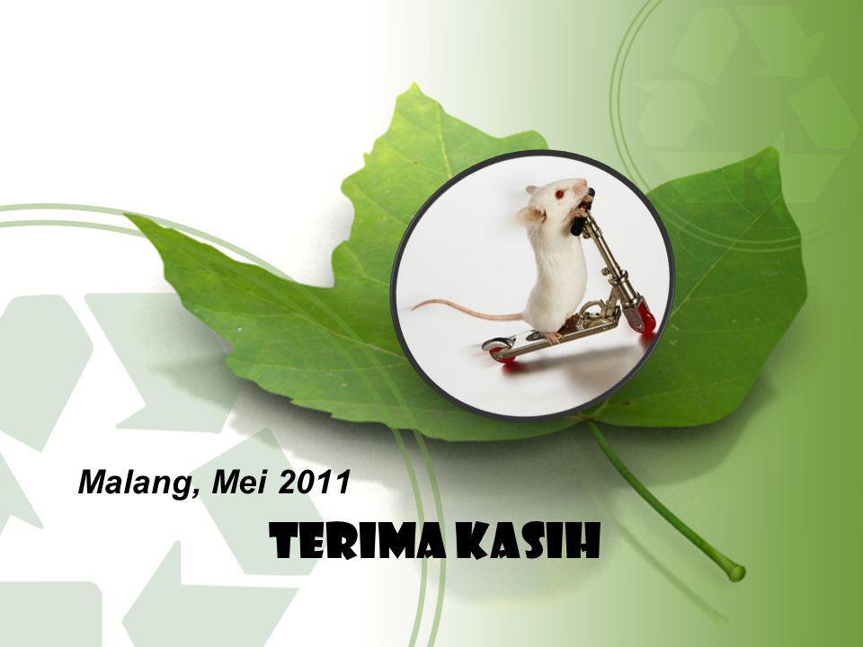 TERIMA KASIH Malang, Mei 2011