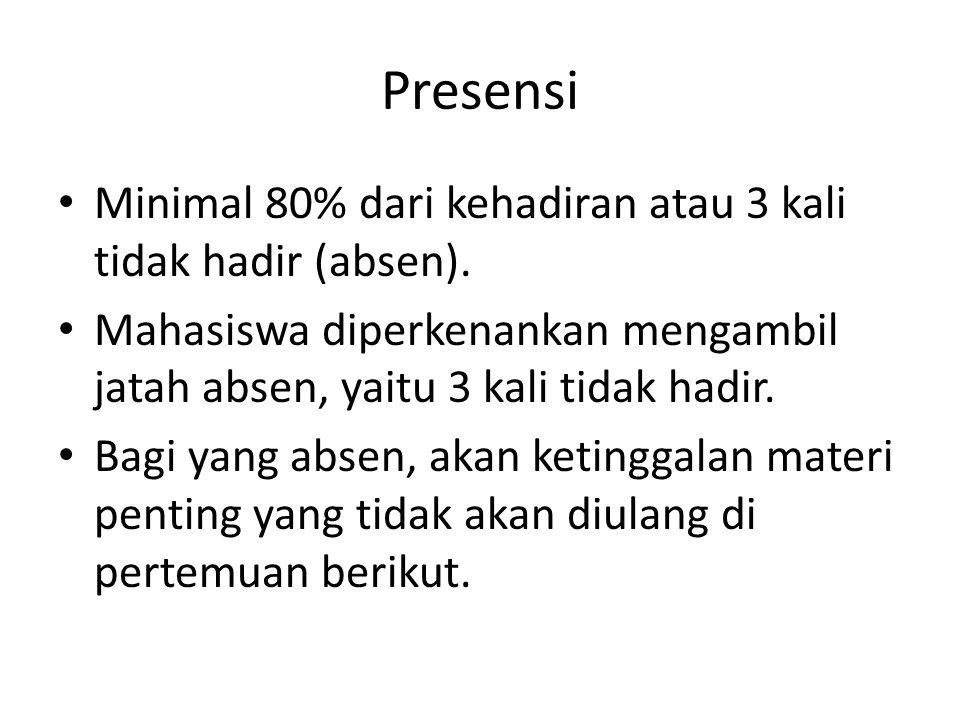 Presentasi Presentasi pra-proposal penelitian.