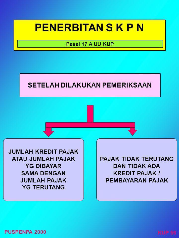 PENERBITAN S K P L B Pasal 17 dan Penjelasan UU KUP JUMLAH KREDIT PAJAK ATAU JUMLAH PAJAK YG DIBAYAR LEBIH BESAR DARI PADA JUMLAH PAJAK YG TERUTANG TE