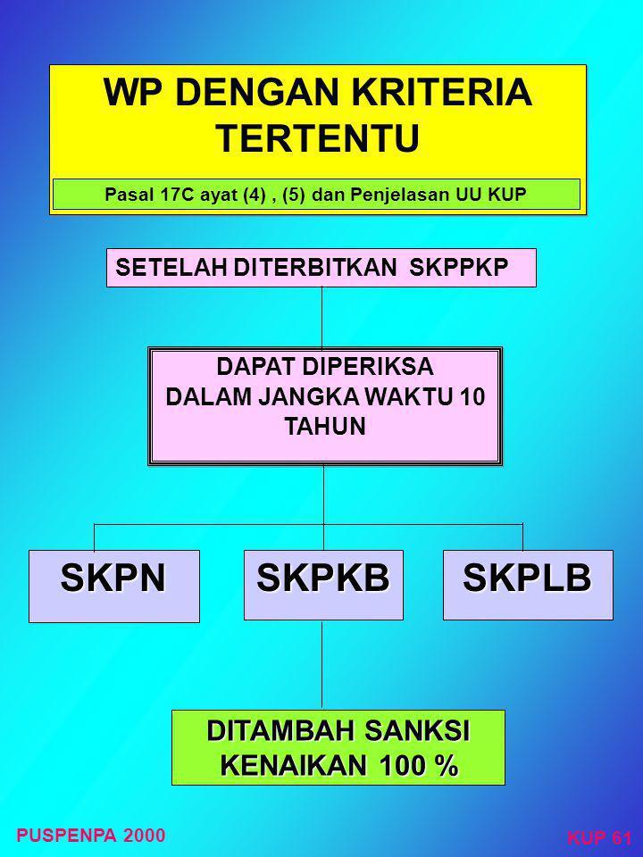 Kriteria WP yang dapat diberikan SKPPKP WP YANG : 1. TEPAT WAKTU DALAM PENYAMPAIAN SPT (2 TAHUN TERAKHIR) 2. TIDAK MEMPUNYAI TUNGGAKAN PAJAK (KECUALI