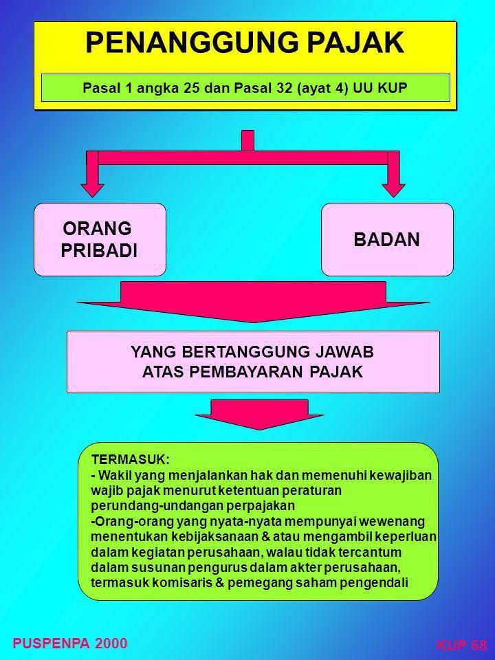 PENAGIHAN SEKETIKA & SEKALIGUS Dilakukan dalam hal :  Penanggung pajak akan meninggalkan Indonesia untuk selama-lamanya atau berniat untuk itu;  Pen