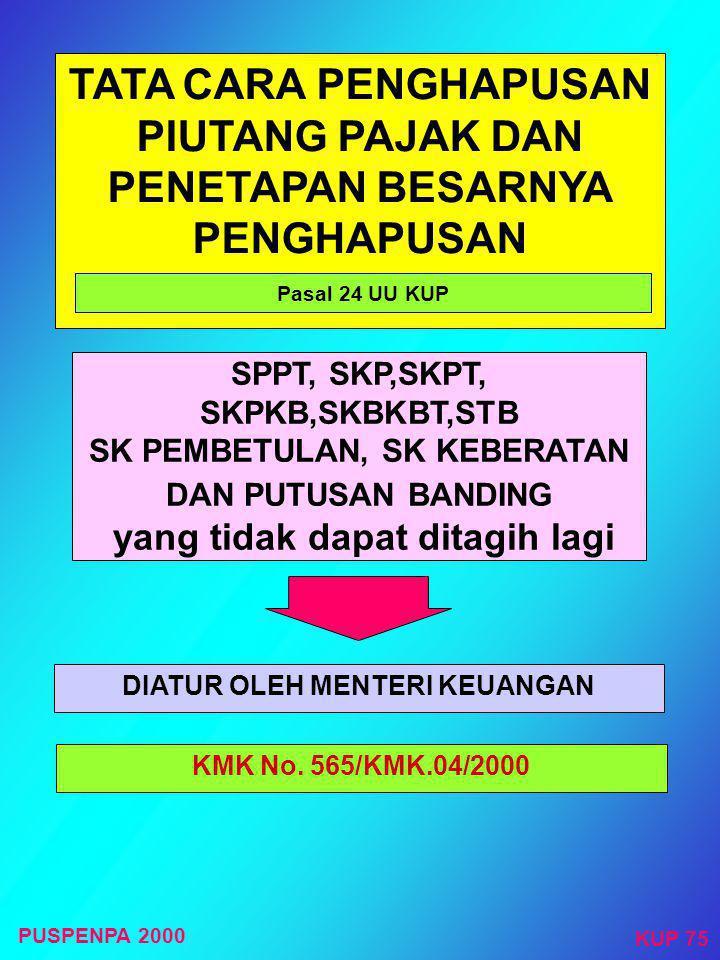 GUGATAN WP ATAU PENANGGUNG PAJAK TERHADAP : Pasal 23 ayat (2) UU KUP Hanya dapat diajukan kepada : badan peradilan pajak  Pelaksanaan Surat Paksa, Su