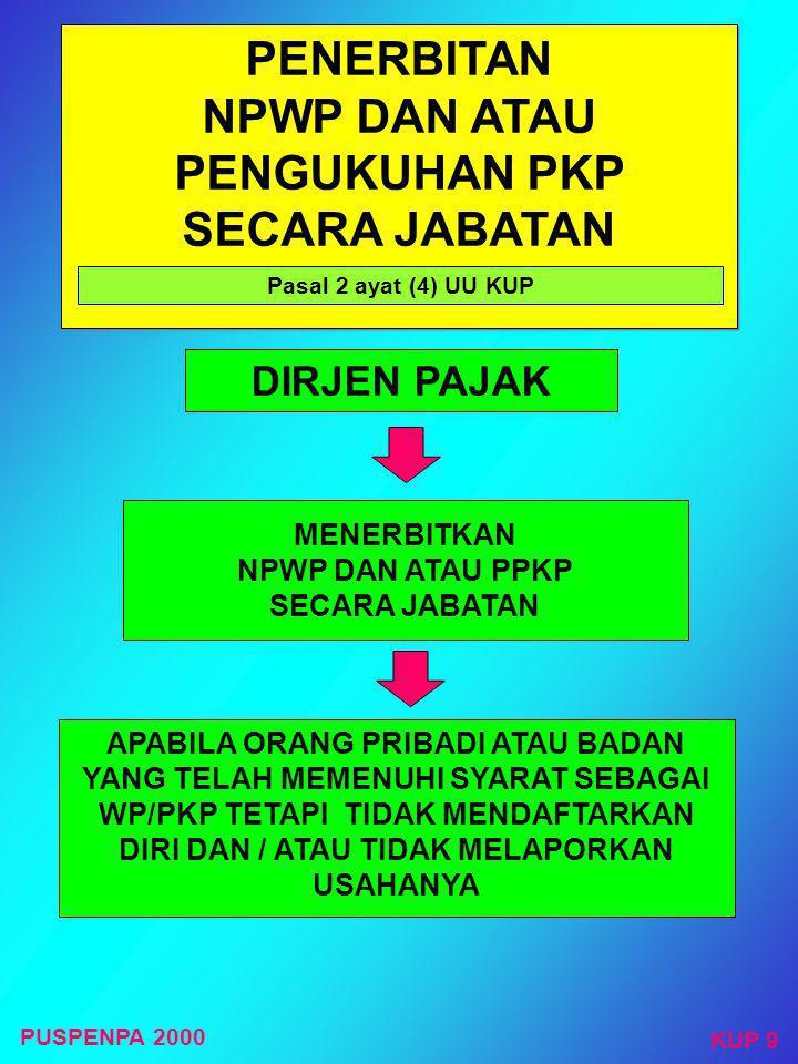 BUMN dan BUMD di DKI, termasuk anak perusahaan BUMN yang penyertaan modal induknya > 50% kecuali selama ini telah terdaftar di KPP domisili PMA TIDAK