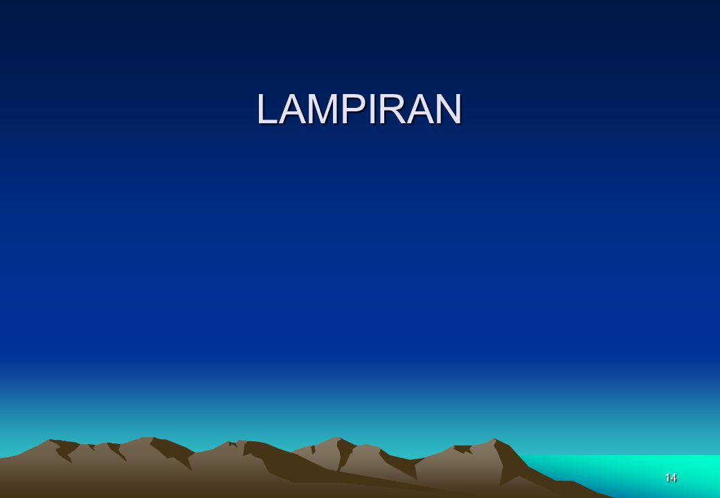 14 LAMPIRAN