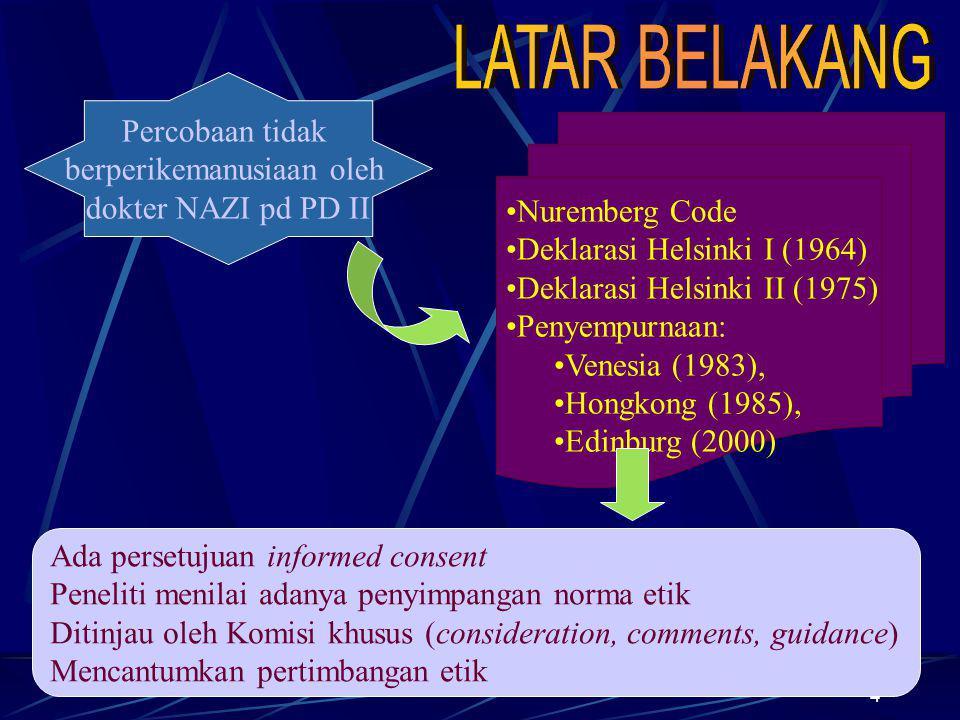 5 Di Indonesia PANCASILA = azaz perikemanusiaan UU tentang Kesehatan No.