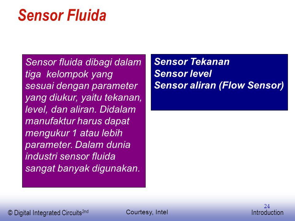 EE141 © Digital Integrated Circuits 2nd Introduction 24 Sensor Fluida Courtesy, Intel Sensor fluida dibagi dalam tiga kelompok yang sesuai dengan para