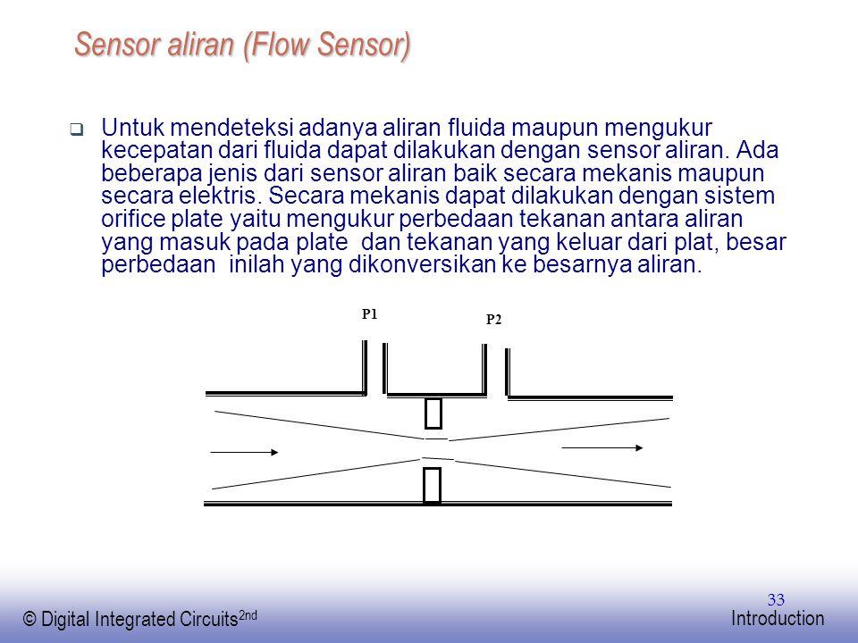 EE141 © Digital Integrated Circuits 2nd Introduction 33 Sensor aliran (Flow Sensor)  Untuk mendeteksi adanya aliran fluida maupun mengukur kecepatan